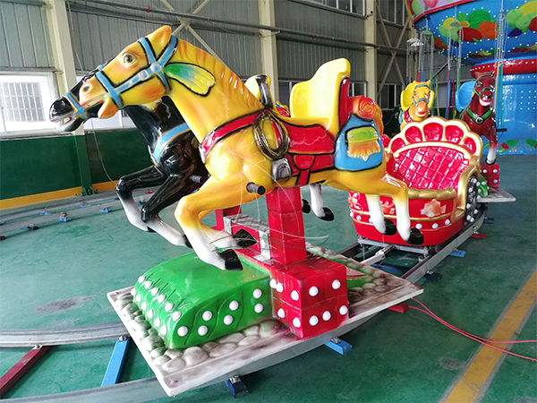 Amusement horse train rides (