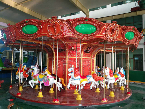 Antique carousel ride for kids