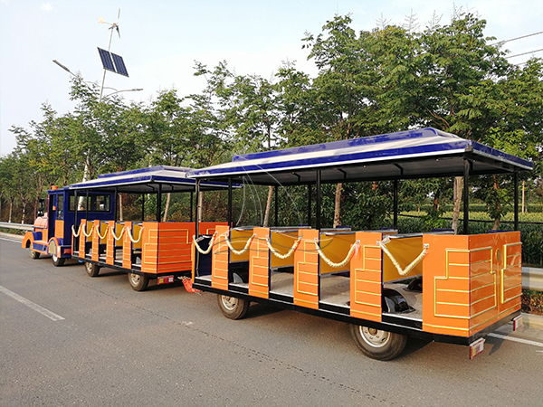 Tourist Orange Trackless Train (1)