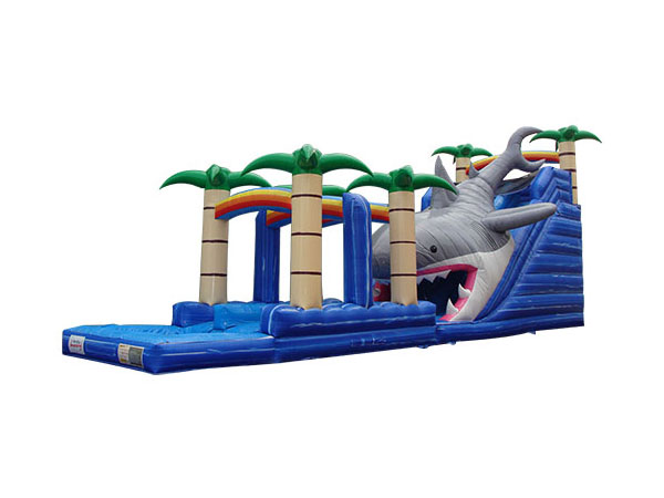 Commercial Inflatable Shark Water Slide