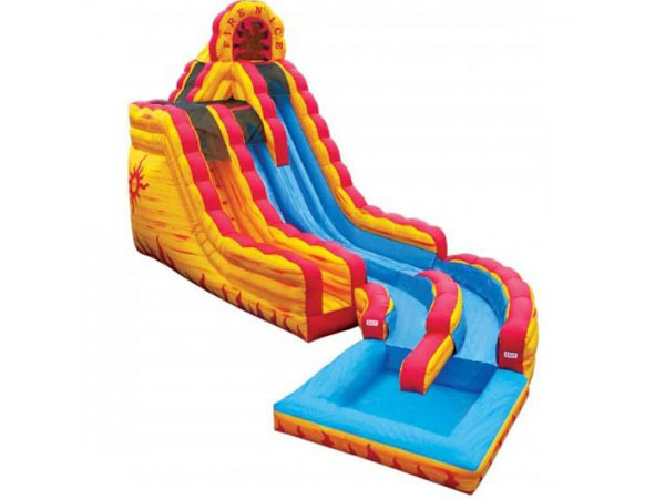 Fire and Ice Inflatable Slide