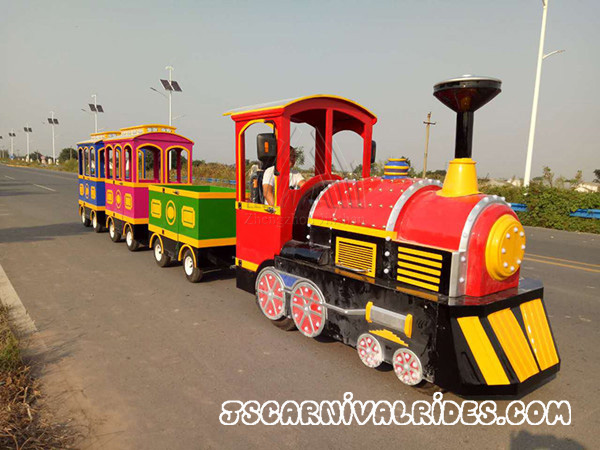 Introduction of Antique Battery Trackless Train