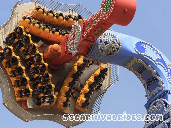 Crazy circus ride