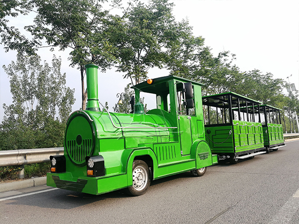 Customed Green Trackless Train (1)