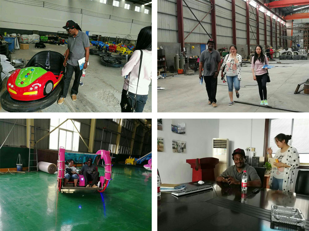 Haiti customers visited our factory