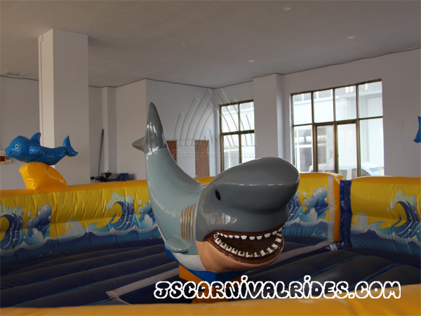 Inflatable shark rides