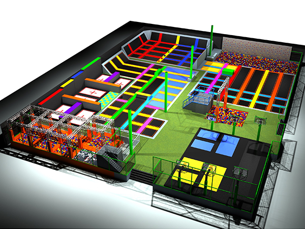 Large Commercial Plan Trampoline Park for Sports Games