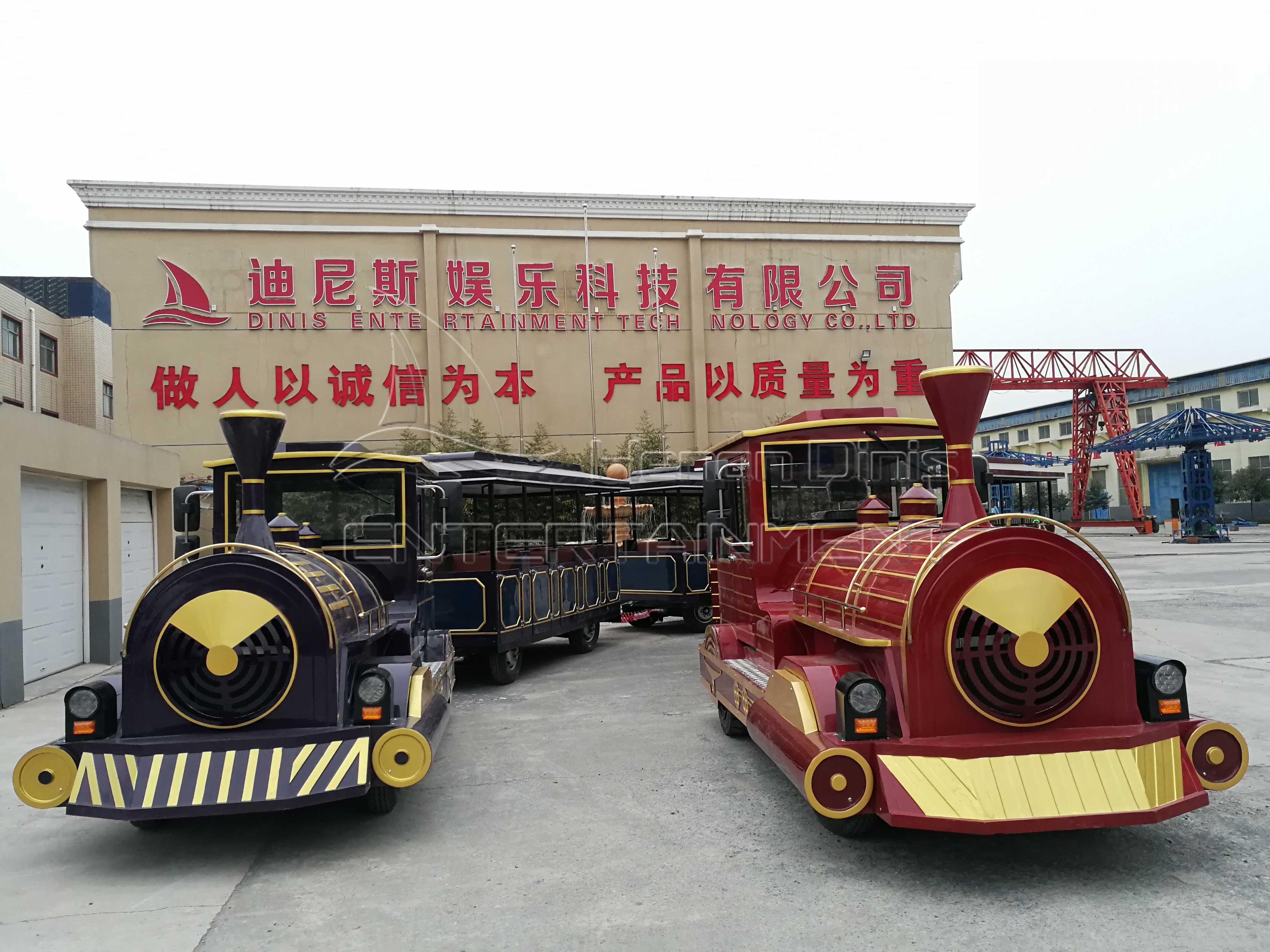 Large Tourist Trackless Train