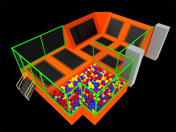 Simple-design-indoor-trampoline-park-with-foam-pit