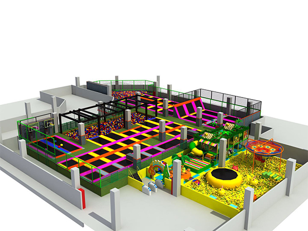 Trampoline-park-with-indoor-playground