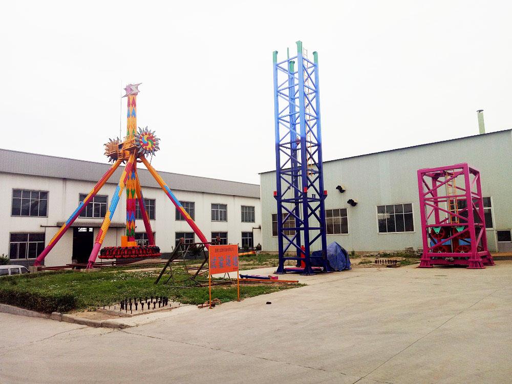 Testing place of Jinshan carnival rides