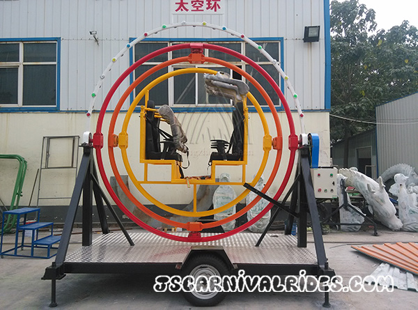 human gyroscope with trailer