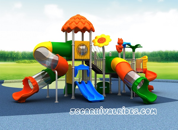Customized kids playground outdoor slide equipment