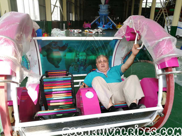 Romania Customer come to visit Jinshan Amusement Equipment Factory