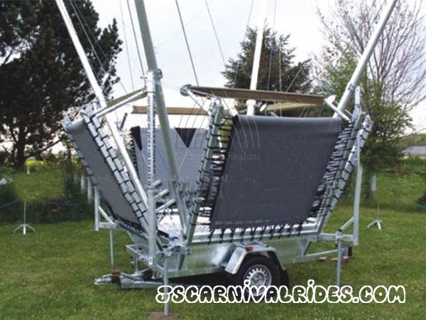 bungee trampoline with trailer