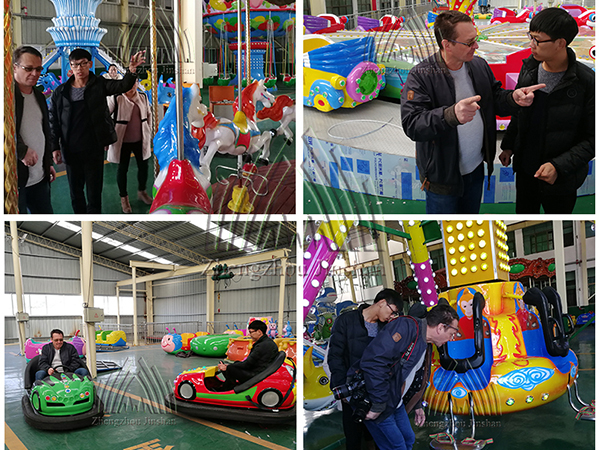 Russia customer came to visit our factory for amusement equipment