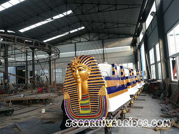 Shipping Customized Pharaoh Roller Coaster to Dubai