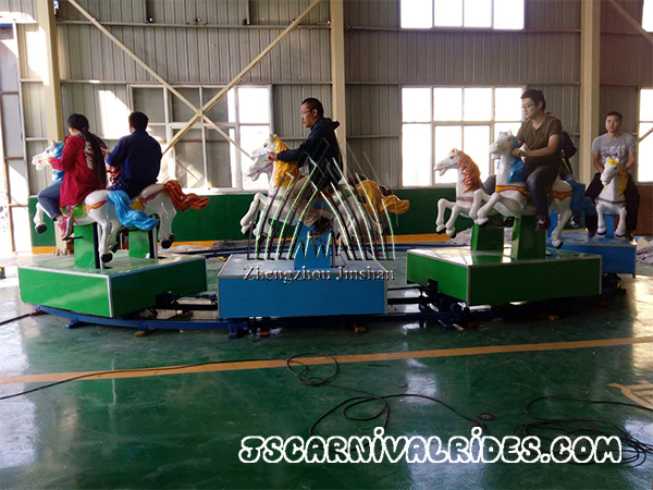 Amusement horse train rides