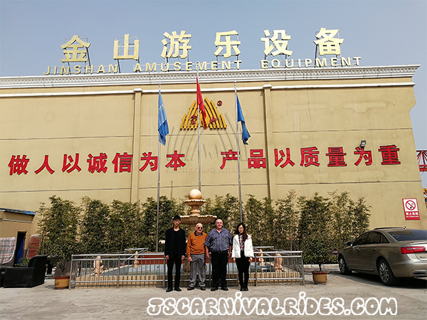 Australian Customers Visited Our Factory and Ordered for Amusement Equipment