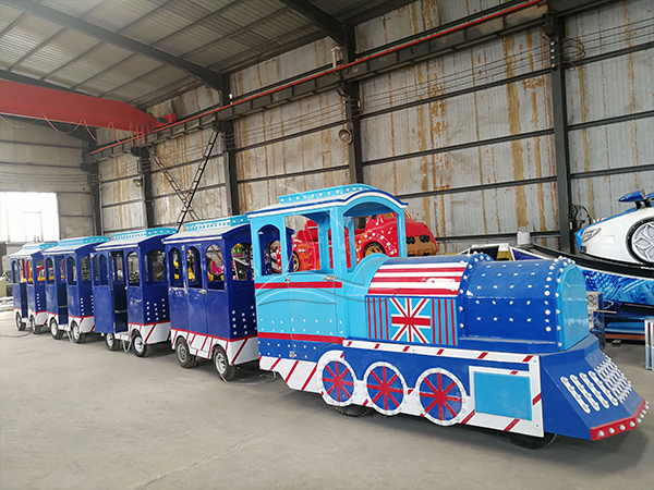 Customized Blue Trackless Train (1)