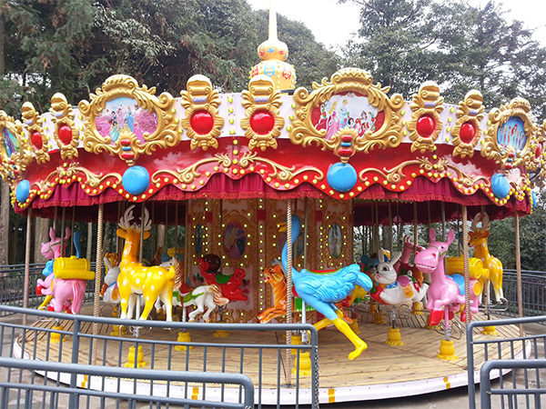 Notes for rides on amusement carousel ride