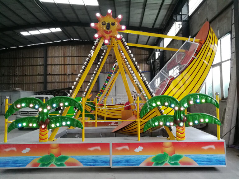 The feedback of mini pirate ship and carousel ride from our USA client